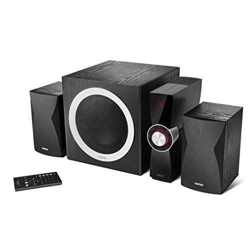 Edifier C3X 2.1 luidsprekersysteem (65 Watt) met infrarood afstandsbediening, audio-weergave van USB en SD-kaart zwart