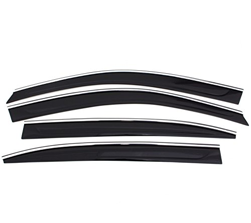 Auto Ventshade 794041 Low Profile Ventvisor Side Window Deflector with Chrome Trim, 4-Piece Set for 2012-2014 Toyota Camry