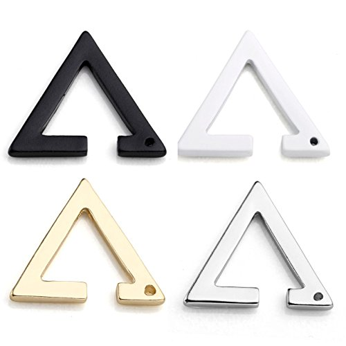 Stainless Triangle Earrings Cartilage 1 4Pairs