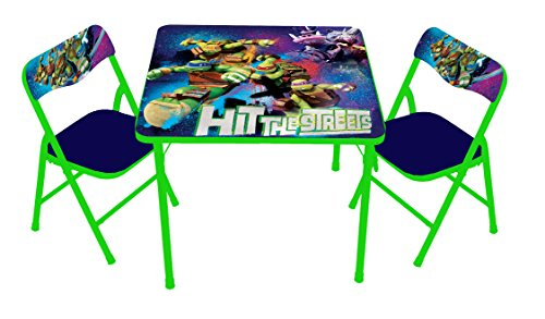 Nickelodeon Teenage Mutant Ninja Turtles Ultimate Activity Table Set with 2 Chairs Play Set with Two Chairs -