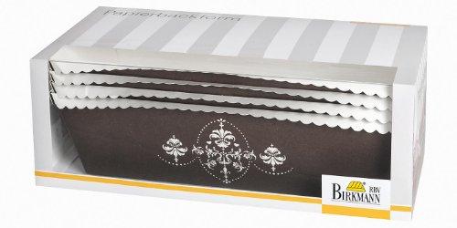 Birkmann Papierbackform, Papierkuchenform, Café de flore, groß, 4 Stück
