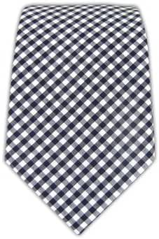 The Tie Bar 100% Cotton Navy Petite Gingham 3 Inch Tie