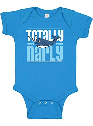 Panoware Funny Baby Boy Clothes Onesie   Totally Narly Narwhal, Turquoise, 3-6 Months (Narwhal Baby Shower)