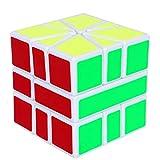 JIAAE 3X3 Alien Puzzle Rubik's Cube Children and Primary School Student Competition Dedicated Rubik,White