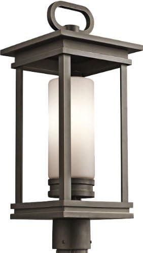 Kichler 49478RZ, South Hope Cast Aluminum Outdoor Post Lighting, 100 Total Watts, Olde Bronze