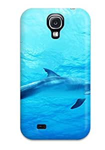 Tough Galaxy FBQazKK9728gnXvE Case Cover/ Case For Galaxy S4(dolphin In Deep Blue Sea)