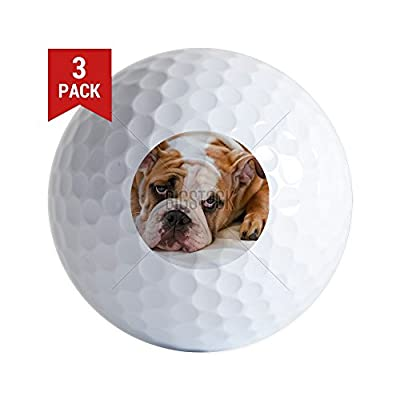 CafePress - English Bulldog - Golf Balls (3-Pack), Unique Printed Golf Balls