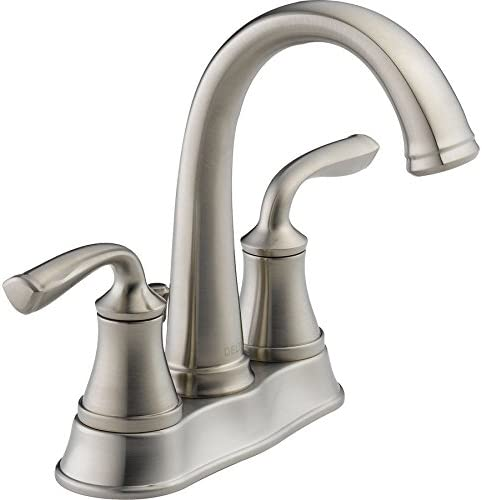 Delta Lorain 25716LF-SS Stainless 2-Handle 4 Centerset WaterSense Bathroom Sink Faucet Drain Included
