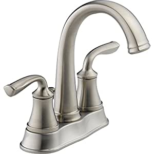 bathroom sink faucets amazon delta lorain 25716lf ss stainless 2 handle 4 quot centerset 16499