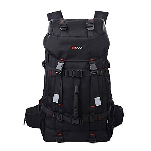 KAKA Backpack Climbing Hiking Shoulder bag Outdoor Daypack Black 50L #2010