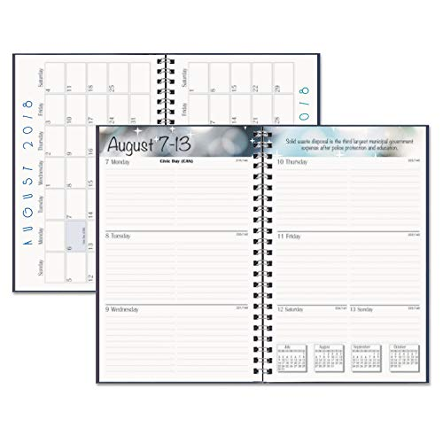 House of Doolittle 2018-2019 Weekly Academic Planner Assignment Book, Black, 5 x 8 Inches, August - August (HOD27502-19)