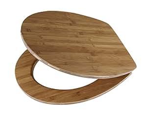 Diaqua Slow Motion–Lyon Dark Bamboo Toilet Seat 42–47x 37.8cm brown