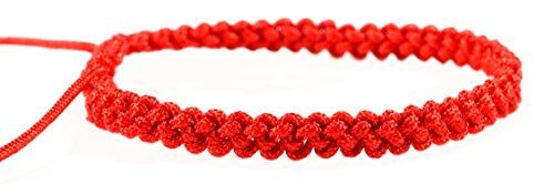 Kabbalah Red String Clothes - Red string bracelet , Kabbalah bracelet, woven braided adjustable bracelet - men women st030