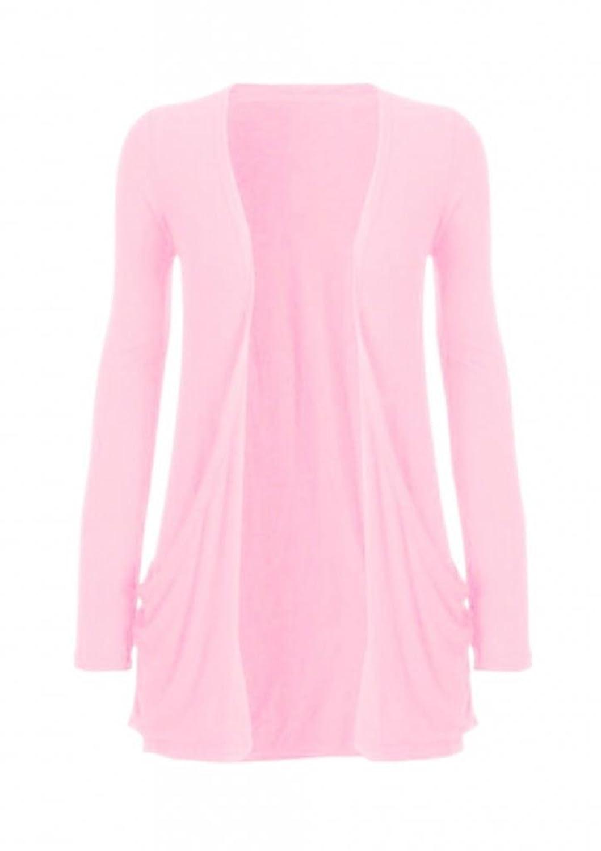 Hot Hanger Ladies Pocket Long Sleeve Cardigan at Amazon Women's ...