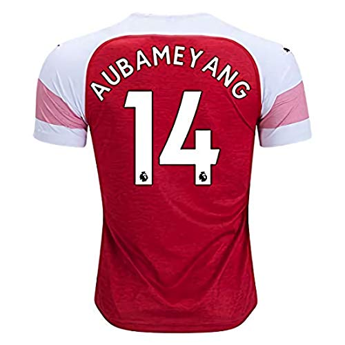 b0a18708ff0 New Aubameyang  14 Jersey Arsenal Home Stadium 18 19 Soccer Men s Color Red  Size S