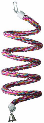 Super Bird Creations 9/10-Inch by 96-Inch Rope Bungee Bird Toy, Large