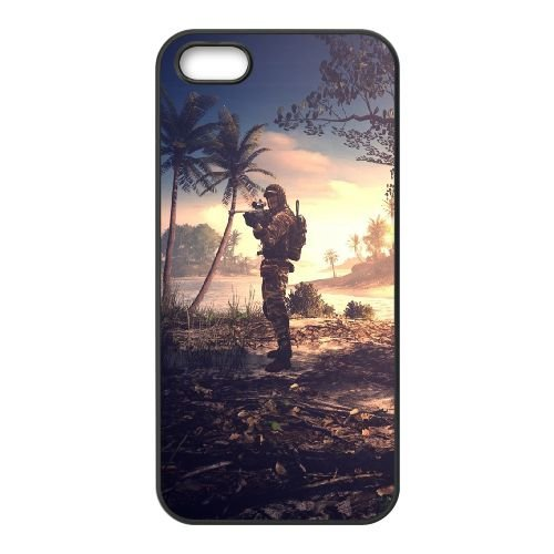 Battlefield 4 coque iPhone 4 4S cellulaire cas coque de téléphone cas téléphone cellulaire noir couvercle EEEXLKNBC23429