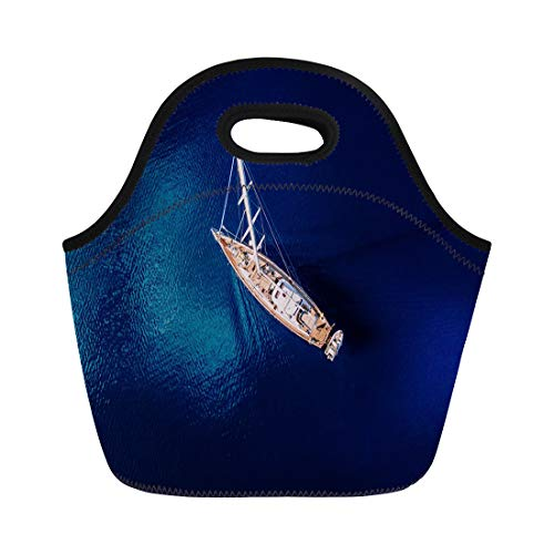 Used, Semtomn Lunch Bags White Boat Aerial View to Yacht for sale  Delivered anywhere in USA