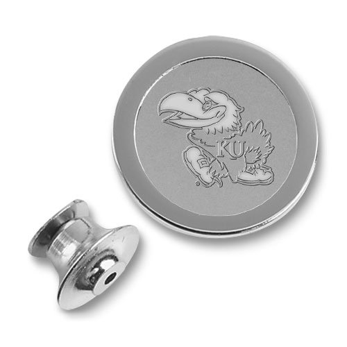 CSI Cannon Sports Kansas Jayhawks Silver Lapel Pin ()