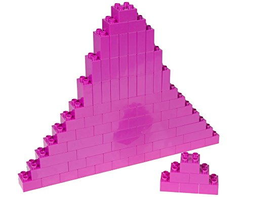 Strictly Briks Classic Big Briks Building Brick Set 100% Compatible with All Major Brands | 3 Large Block Sizes for Ages 3+ | Premium Magenta Building Bricks | 84 Pieces