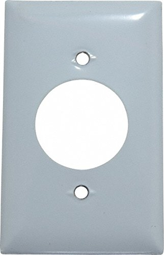 1 Gang, 4-1/2 Inch Long x 2.78 Inch Wide, Standard Outlet Wall Plate, Single Outlet, Metallic, Stainless Steel by Hubbell Wiring Device-Kellems
