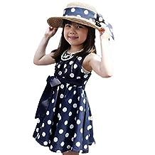 FEITONG(TM) Kids Girls Clothing Polka Dot Chiffon Sundress Dress