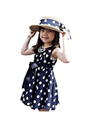 FEITONG(TM) Kids Girls Clothing Polka Dot Chiffon Sundress Dress