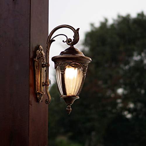 ウォールランプ、屋外の壁ランプ中庭の通路側の廊下バルコニーの階段防水ヴィンテージ屋外の壁ランプ