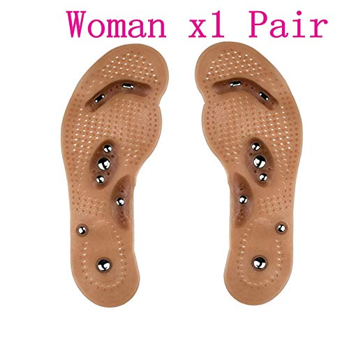 - Acupressure Slimming Insoles Foot Massager Magnetic Therapy Weight Loss (30-40(Woman))