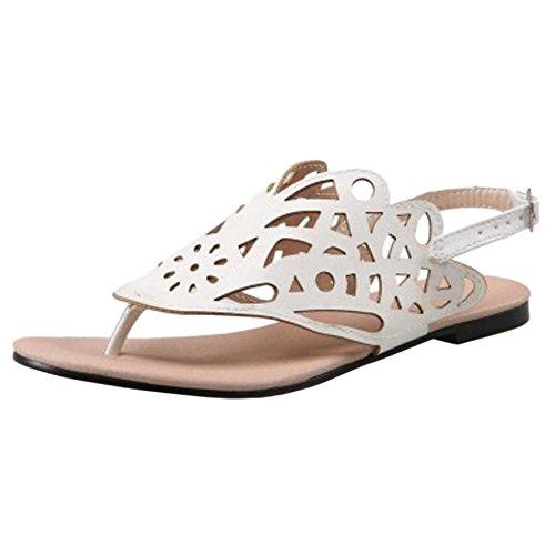 Sandales Ete Plates JOJONUNU White Femmes qTvWf