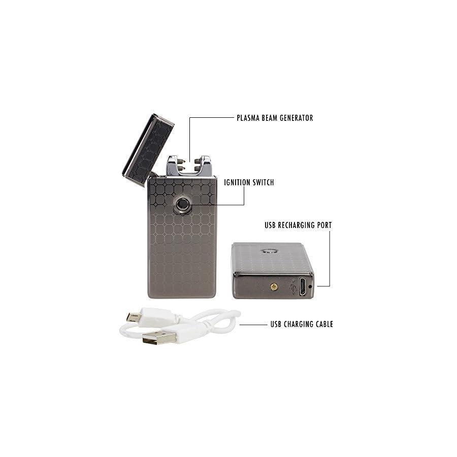 Saberlight X Dual Arc Plasma Lighter Rechargeable Flameless Plasma Beam Lighter Electric Lighter Plasma Lighter Rechargeable no Butane splashproof Windproof