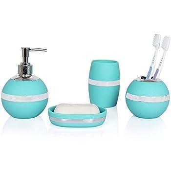 Amazon.com: Brandream Luxury Bathroom Accessories Elegant Resin ...