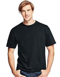 Hanes Men's ComfortSoft T-Shirt (Pack of 4),Black,4XL