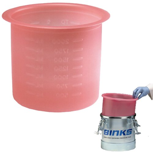 Box of 10 Devilbiss Binks 2.7 Gallon Paint Pressure Feed Pot Tank Liners (#PT-52-K10, 10 Liners)