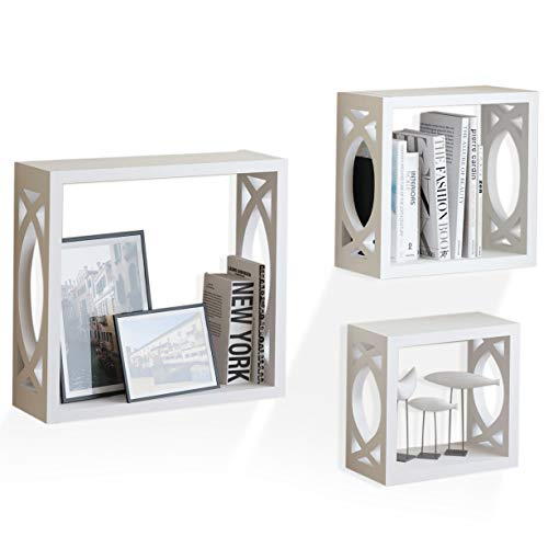 brightmaison Wooden White Shadow Boxes Living Room for sale  Delivered anywhere in USA