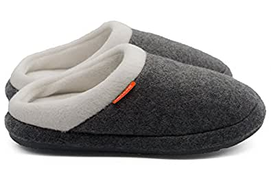ARCHLINEª Orthotic Slippers Slip On Arch Scuffs Medical Pain Relief Moccasins Grey Marle