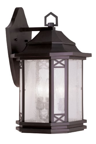 Livex Lighting 2313-07 Tahoe 3-Light Outdoor Wall Lantern, (Bronze Tahoe Transitional Wall)