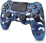 Wireless Controller for PS4, Game Controller with Dual Vibration Shock and Audio Jack, Led Touch Panel, High-S