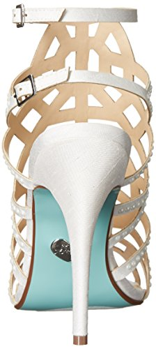Betsey Johnson Blue by Women's SB-Corey Dress Sandal Ivory Satin dI7gD7