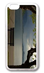 MOKSHOP Adorable Cloudy Park Bench Soft Case Protective Shell Cell Phone Cover For Apple Iphone 6 Plus (5.5 Inch) - TPU Transparent