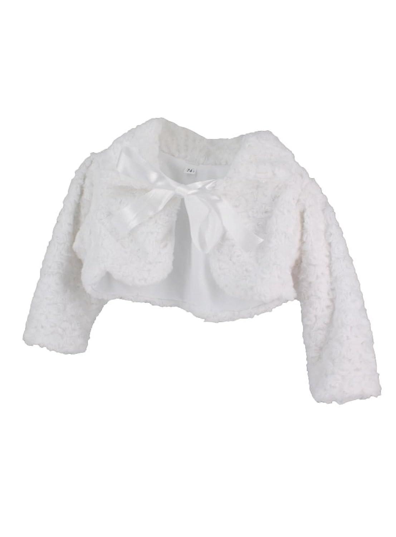 Veste blanche bebe fille