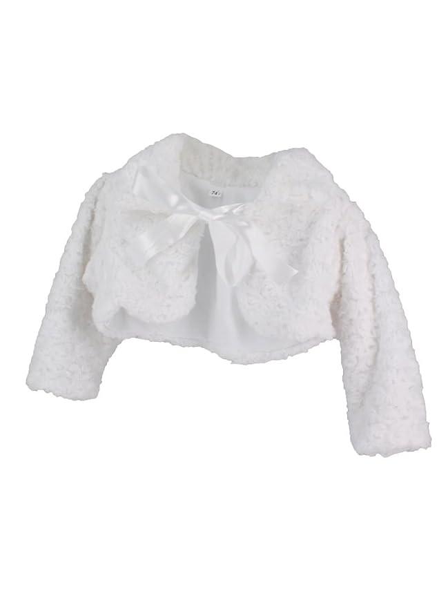 Chaqueta blanca bebé niña bautizo, ceremonia, boda ...