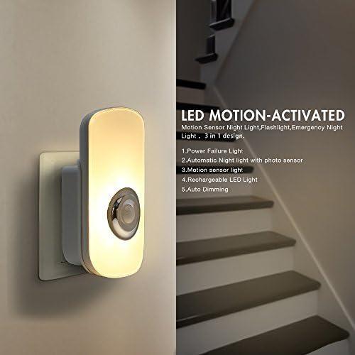 Garden Mile Recargable Inalámbrico Sensor de Movimiento PIR LED Seguridad Lámpara Mesilla Recibidor Escaleras pared, luces la noche, 2 Modos Auto Encendido/Apagado portátil emergencia linterna: Amazon.es: Iluminación