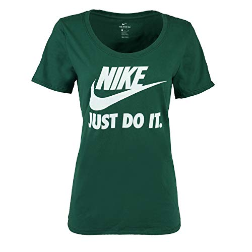 (Nike Women's Athletic Cut Graphic T-Shirt Noble Green L)