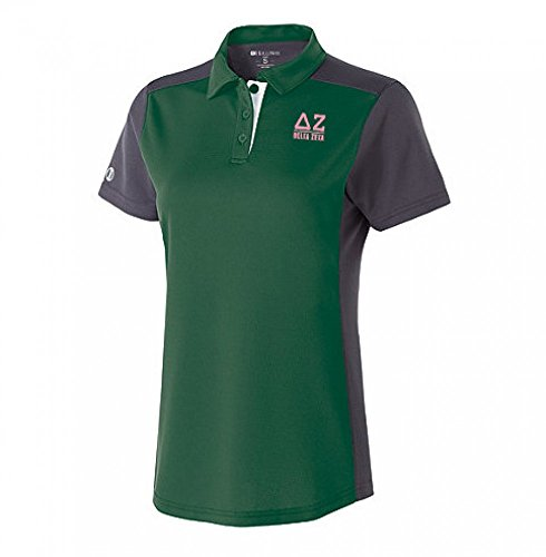 (Delta Zeta Division Polo X-Large Forest/Carbon/White)
