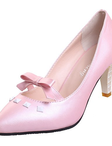 GGX/Damen Schuhe Kunstleder Fall Heels/spitz Toe Heels Büro & Karriere/Party & Abend/Casual Stiletto heelcrystal pink-us6 / eu36 / uk4 / cn36