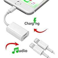 iPhone 7 Adapter & Splitter,TOOLIFE Dual Lightning Charge & Audio Cable for iPhone 7, iPhone 7 Plus, ipad and any Lightning device that runs iOS 10 or later (white)