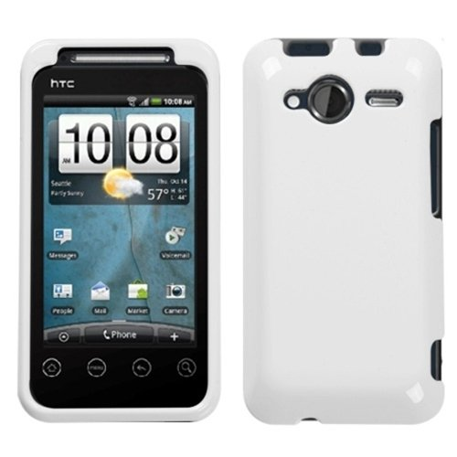 Leegoal White Rubber Coated Hard Plastic Front Edge and Back Case Cover for HTC EVO Shift 4G