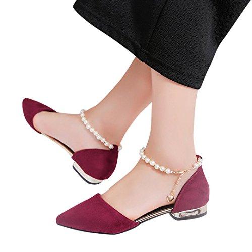 S&H-NEEDRA H, Chaussures de Randonnée Montantes pour Femme Noir Noir M Rouge