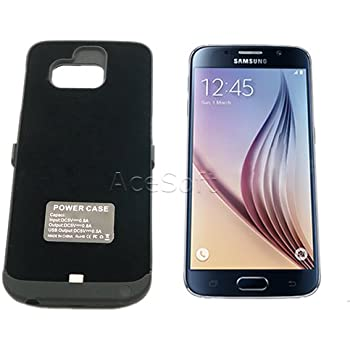 Galaxy S6 Battery Case, 6500mAh Slim External Protective Rechargeable Portable Charging Case for Samsung Galaxy S6 SM-G920R4 Extended Battery Charger Cover ...